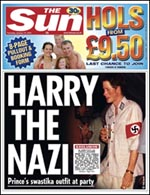 Harry Windsor, Prince Harry, Harry Nazi, racist bastard